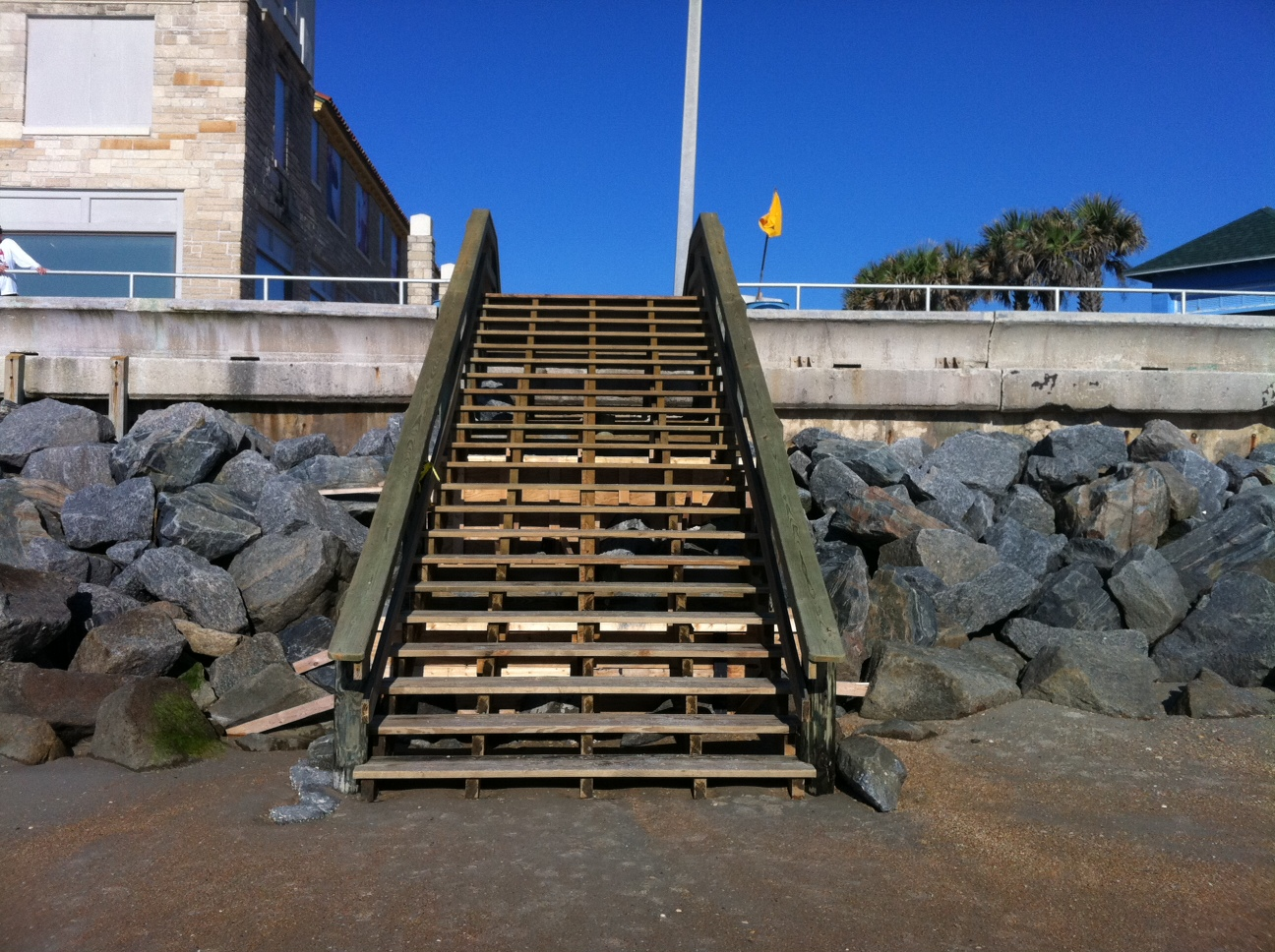 New Beach Access Stairs At The St. Augustine Beach Pier