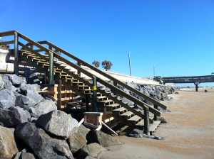 St. Augustine Beach Pier stair replacement