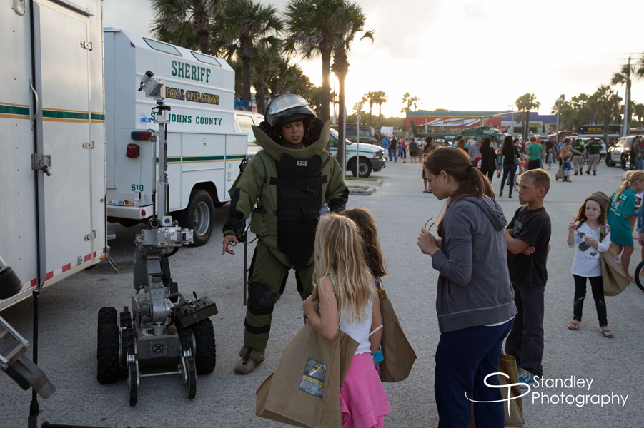 St. Augustine Beach Pier, St. Johns County Pier Park, St. Augustine Beach Police Department, SJCSO, National Night Out event in St. Augustine