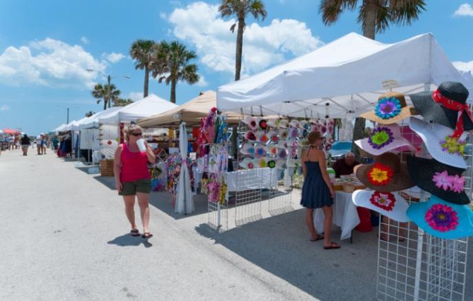 St. Augustine Beach Pier, Arts and crafts festival, st. augustine beach, events at the beach, visiting st. augustine beach, places to see in st. augustine beach, st. johns county pier park