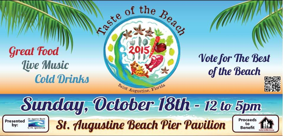 Taste of the Beach, St. Augustine Beach Pier, St. Johns County Pier park, St. Augustine Beach Civic Association, St. Augustine Beach