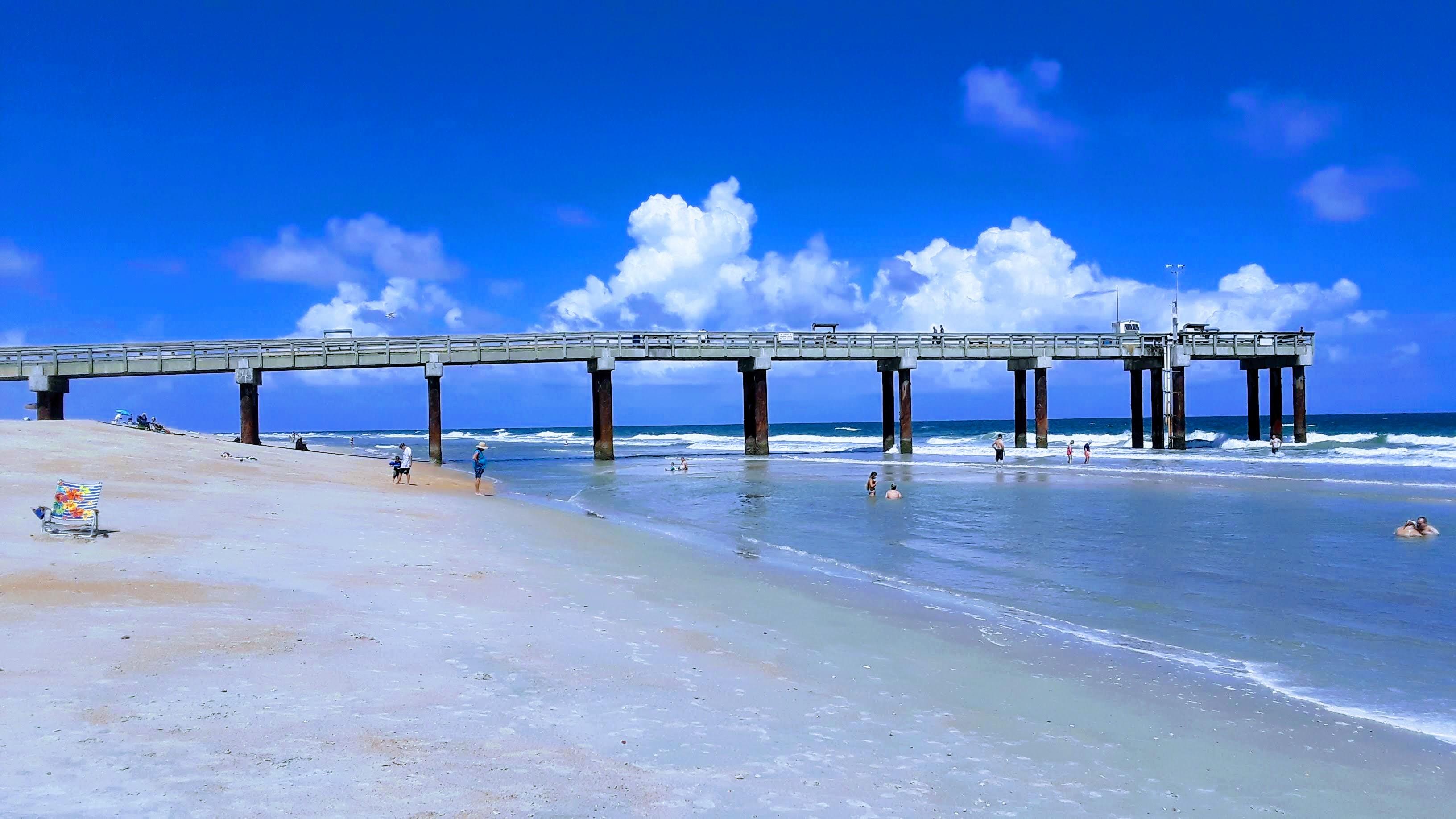 St. Augustine Beach Pier, St. Johns County Pier, St. Augustine Beach, Pier park, splash park, Things to do in st. augustine beach